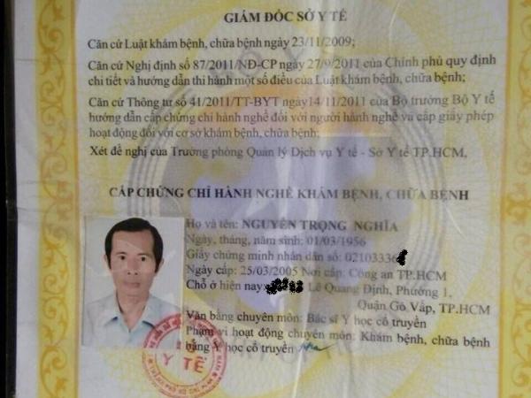 Bác sĩ Nguyễn Trọng Nghĩa