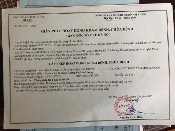 Giấy phép đại diện nhà thuốc của Bác sĩ Hoàng Thị Lan Hương