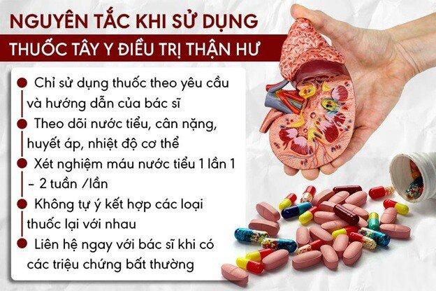 Nguyên tắc sử dụng thuốc tây để điều trị thận hư