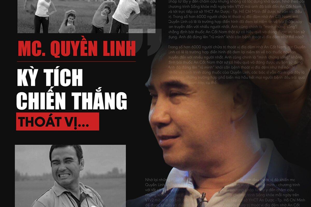 Diễn viên, M.c Quyền Linh chia sẻ cách chữa THOÁT VỊ ĐĨA ĐỆM trong 30 ngày